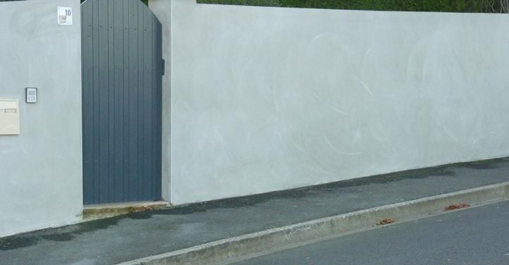 Mur de clôture et enduit - Chaillou Bâtiment