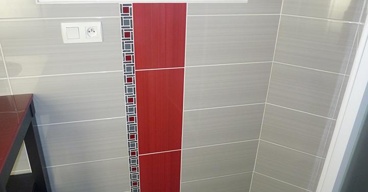 Pose de carrelage dans salle de bain - Chaillou Bâtiment