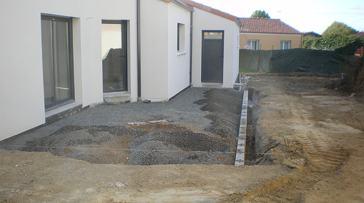 Préparation avant réalisation terrasse - Chaillou Bâtiment